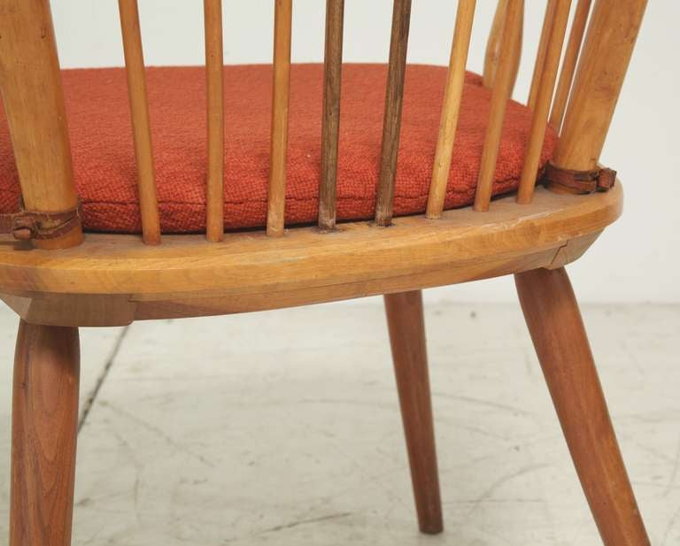 Leather Architectural Arts and Crafts Chair by Albert Haberer for Hermann Fleiner For Sale