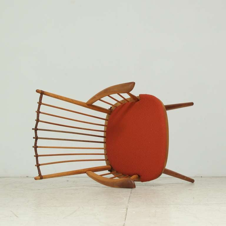 Architectural Arts and Crafts Chair by Albert Haberer for Hermann Fleiner For Sale 1