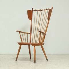 architectural arts and crafts chair by Albert Haberer