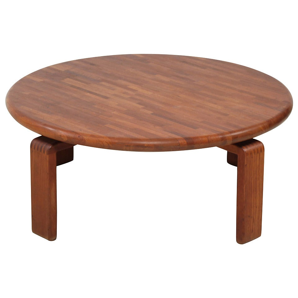round wood tables for sale wooden slat studio coffee table usa 1960s for 7821