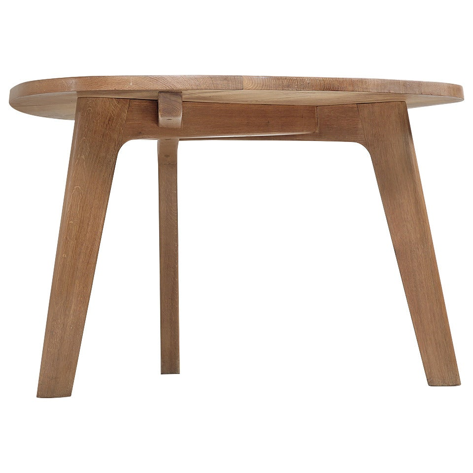 Triangular oak dining table at 1stdibs - Triangle dining table ...