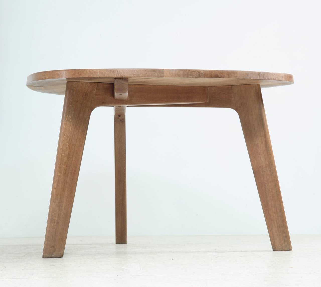 Triangular Oak Dining Table at 1stdibs