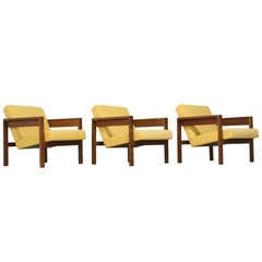 Set of Three Hein Stolle Chairs in Wenge, Netherlands, 1960s