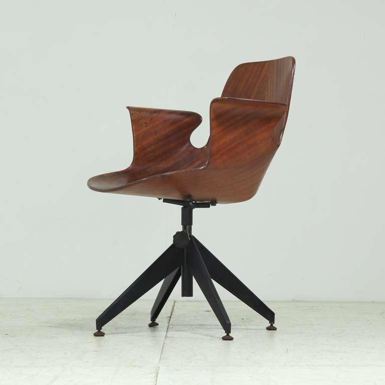 Vittorio Nobili height adjustable swiveling desk chair at 1stdibs