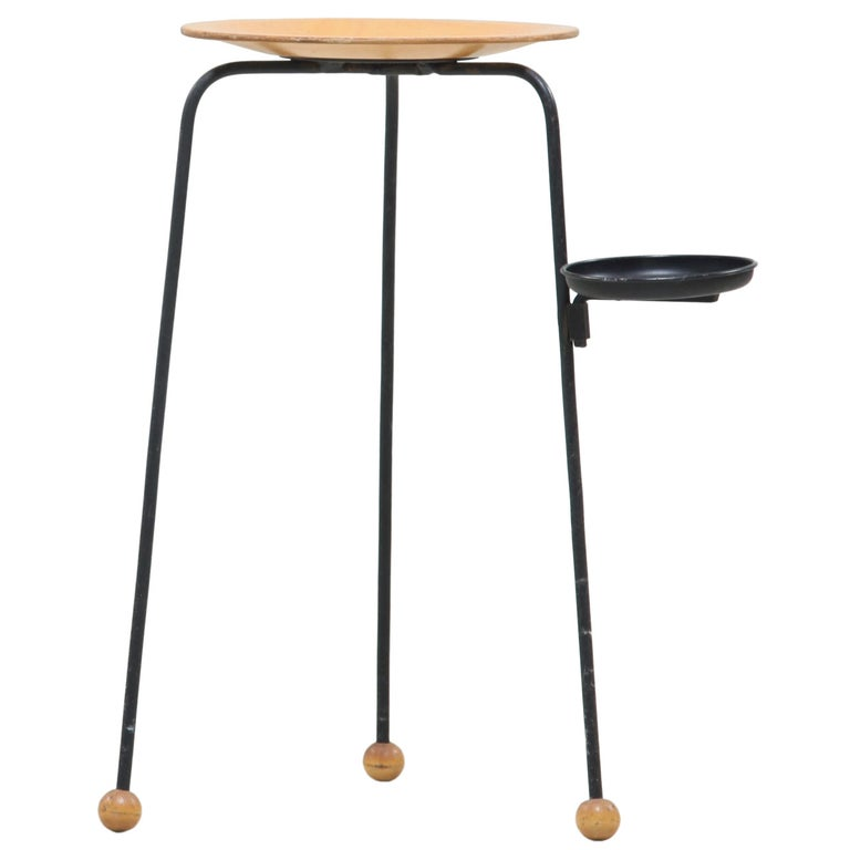 Tony Paul Side Table with Ashtray or Coaster For Sale