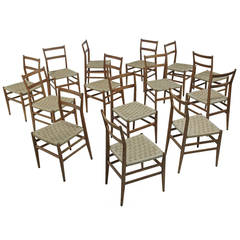 Set of 18 Labeled Gio Ponti Leggera Chairs