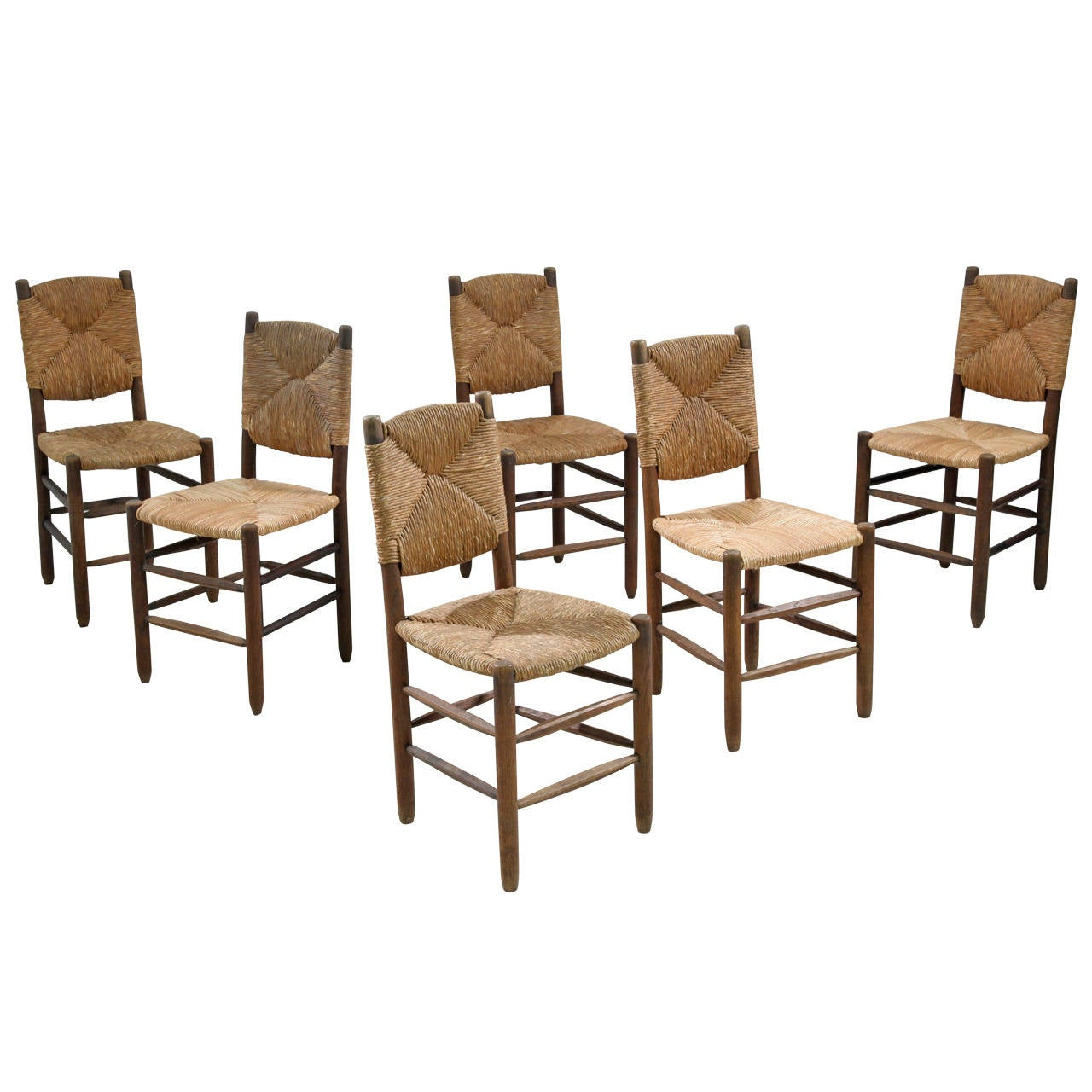 set of six charlotte perriand bauche chairs at 1stdibs