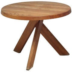 Round Pierre Chapo SFAX  6 persons dining table