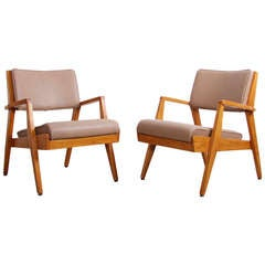Pair of Jens Risom Lounge Chairs by Jens Risom Design Inc.