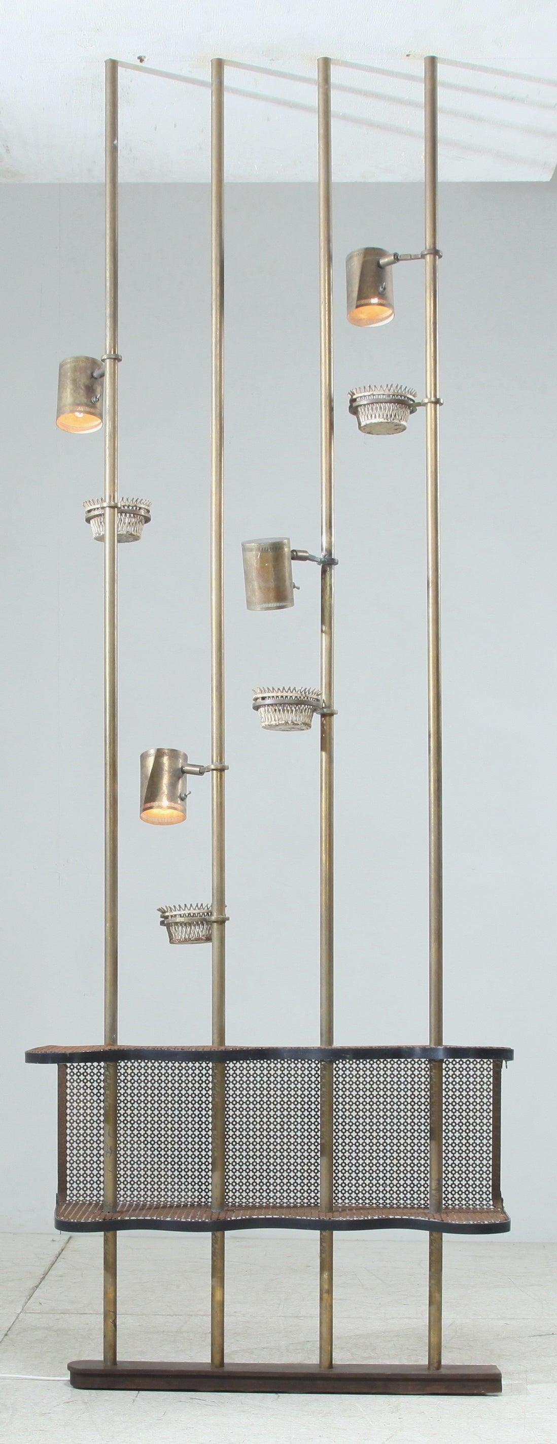 Mathieu Mategot Custom Made Brass Illuminating Room