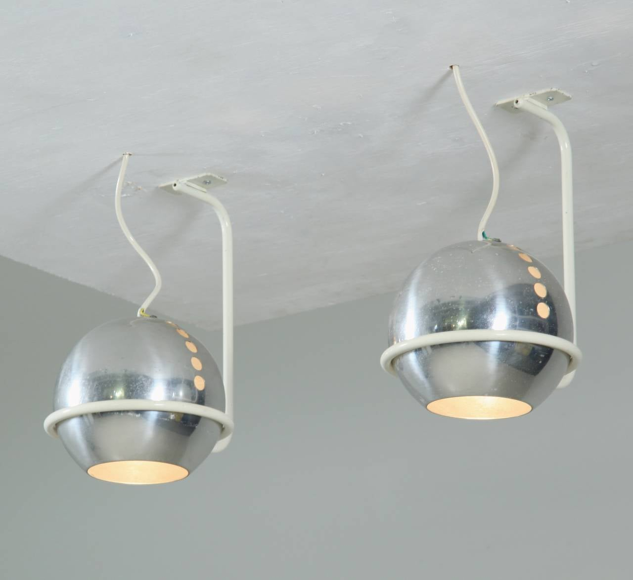 arteluce lighting italy. pair of model 232g ceiling lamps by gino sarfatti, arteluce, italy, 1960s 2 arteluce lighting italy
