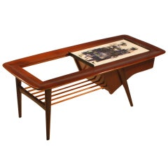 Alfred Hendrickx Sidetable In Rosewood With Ceramic Tiles