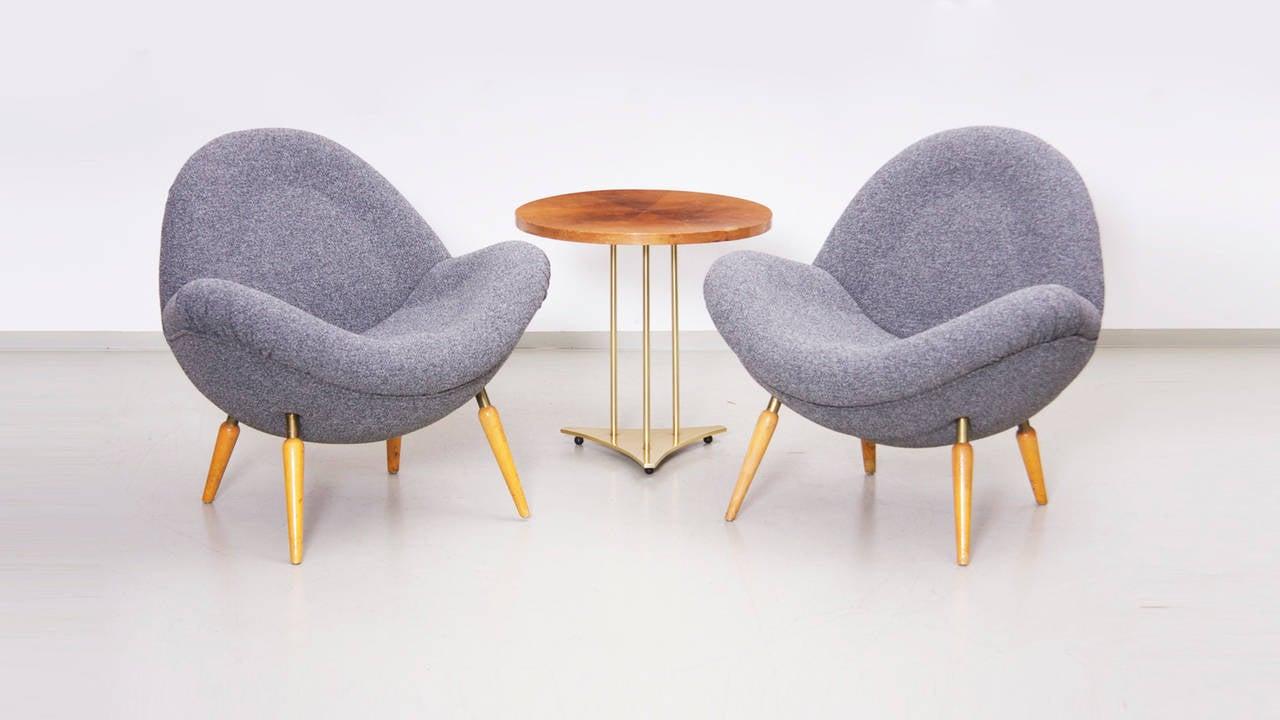 fritz neth 39 schalensessel 39 easy chair circa 1955 for correcta werke at 1stdibs. Black Bedroom Furniture Sets. Home Design Ideas