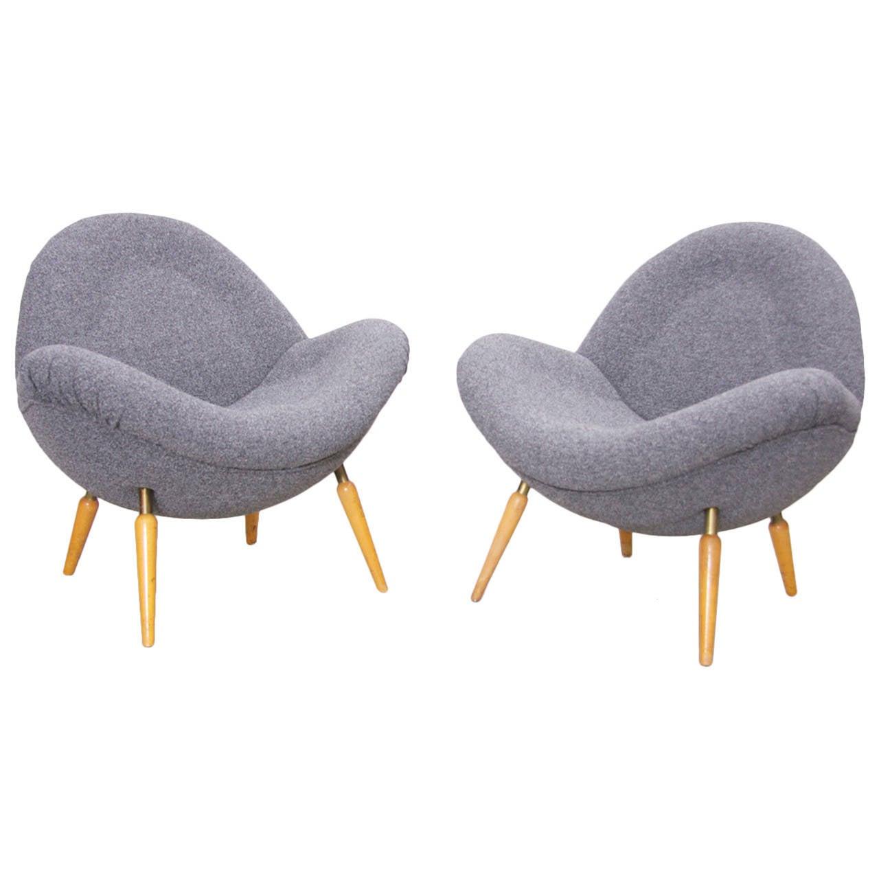 fritz neth 39 schalensessel 39 easy chair circa 1955 for correcta werke. Black Bedroom Furniture Sets. Home Design Ideas
