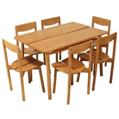 Pierre Gautier-Delaye dining suite with 6 chairs