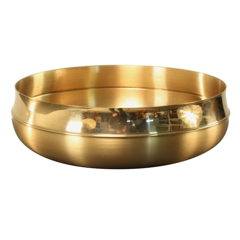 Handmade Brass bowl by Tapio Wirkkala for Kultakeskus Oy