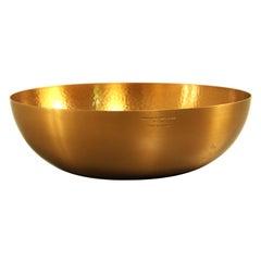 Handplated brass fruitbowl by Tapio Wirkkala for Kultakeskus Oy