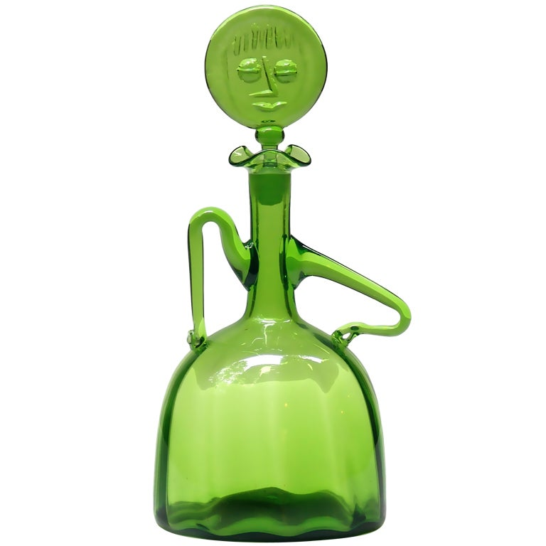 Lady Decanter By Joel Philip Myers For Blenko 1965 At 1stdibs