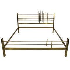 Italian 1960s Modernist Double Bed