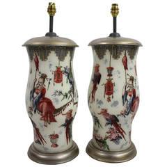 A Pair Of Orientalist Declamania Lamps