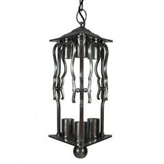 French 1930s Steel Lantern