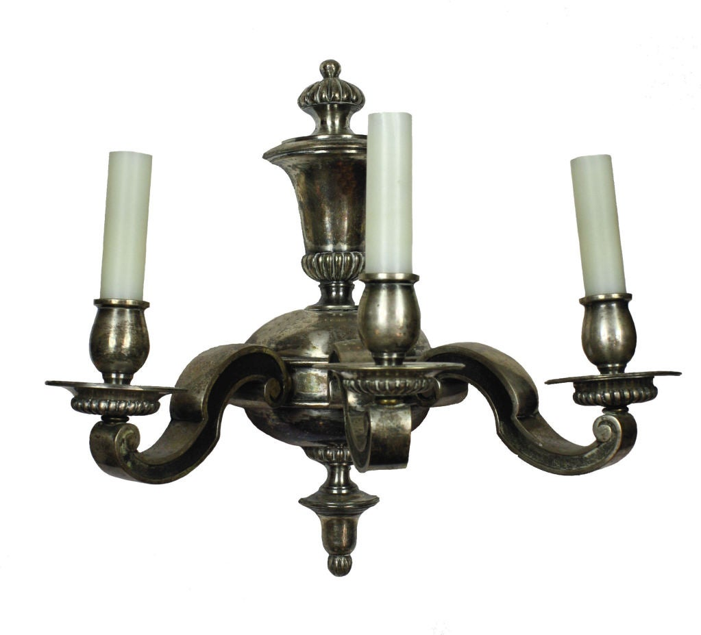 Wall Sconces Silver : Four Silver Wall Sconces For Sale at 1stdibs