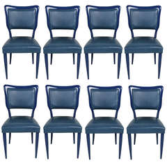 A Set Of Eight Dinning Chairs In The Style Of Gio Ponti