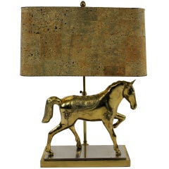 A Gilt Bronze Horse Lamp By Maison Jansen