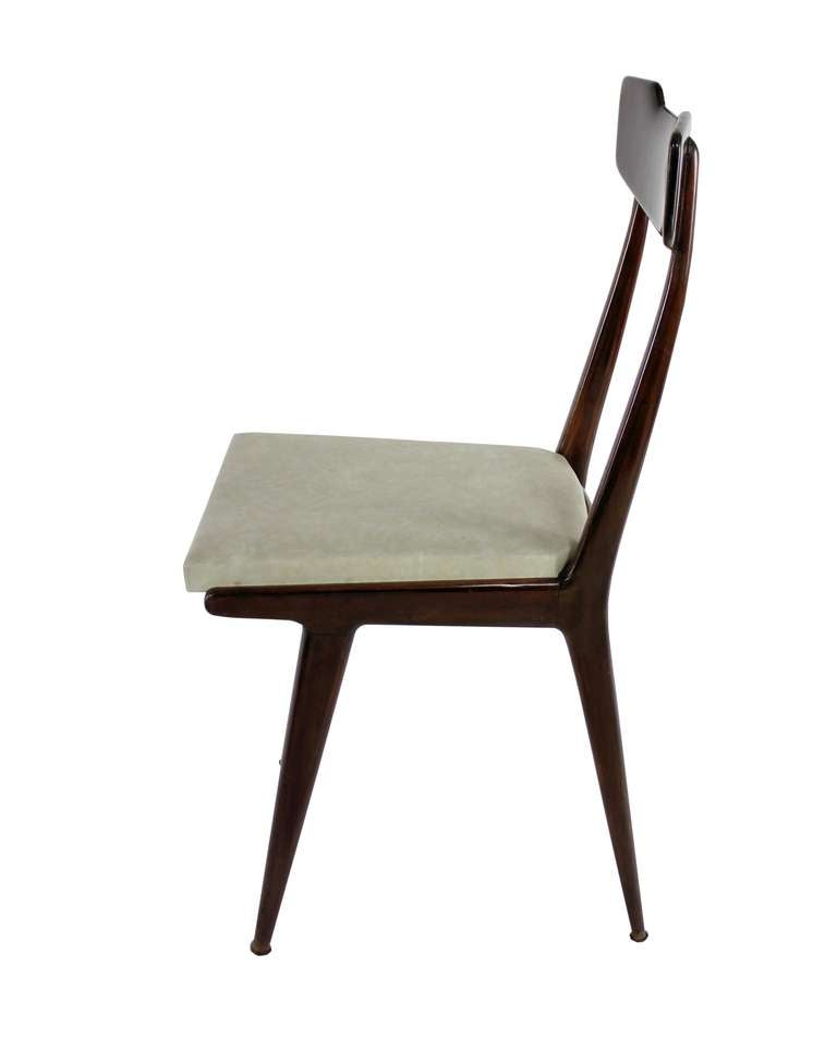 A Set Six Cassina Dining Chairs at 1stdibs