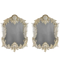 A Pair Of Large Irish Country House Mirrors