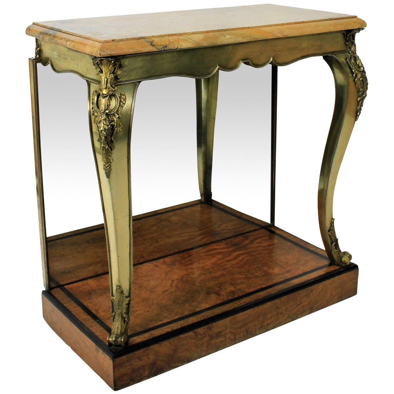 Fine english console table in the manner of george bullock for England table
