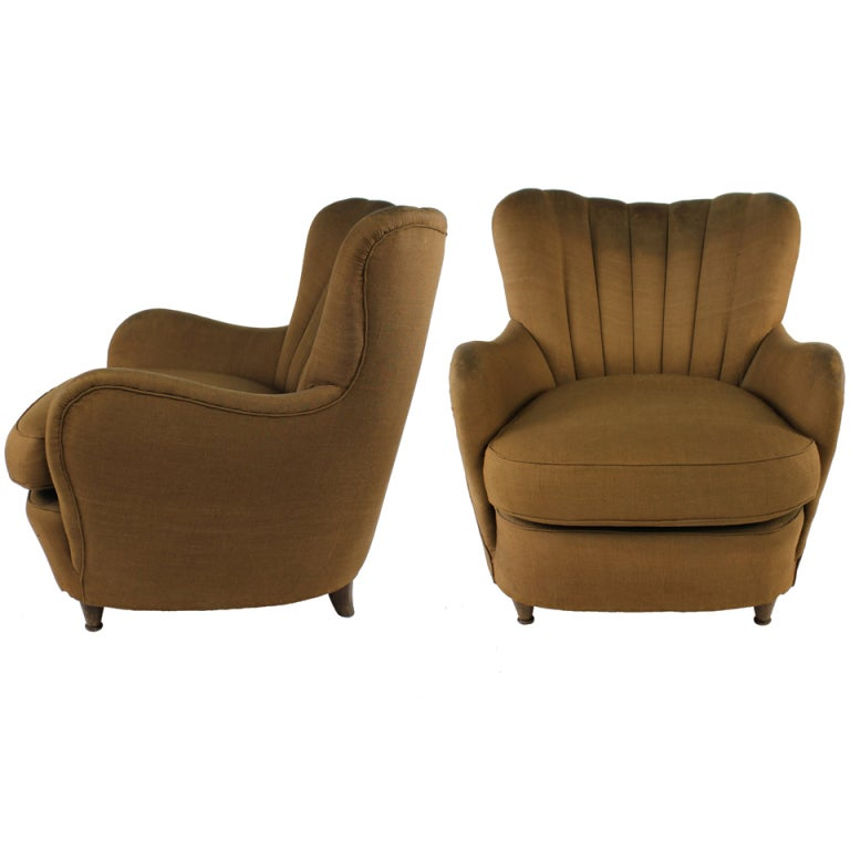 A pair of stylish mid century italian armchairs at 1stdibs for Children s armchairs 10 of the best