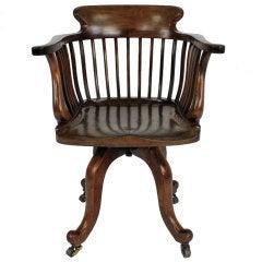 An English Walnut Desk Chair By Edward Godwin