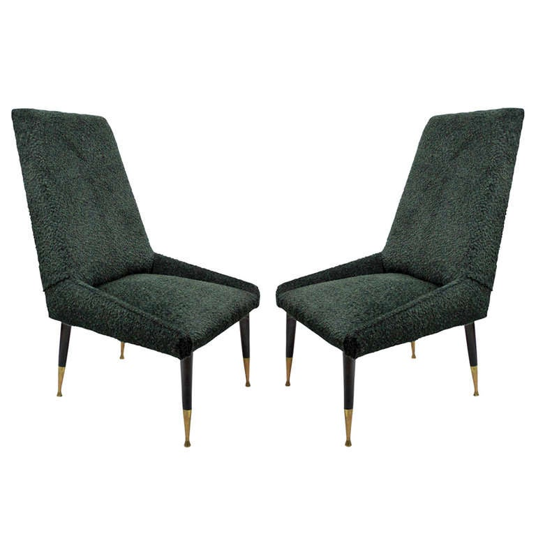 pair of cool bedroom chairs in mohair at 1stdibs