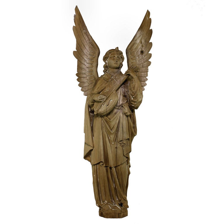 St Raphael Archangel Statue: A Large Carved Statue Of The Archangel Raphael At 1stdibs