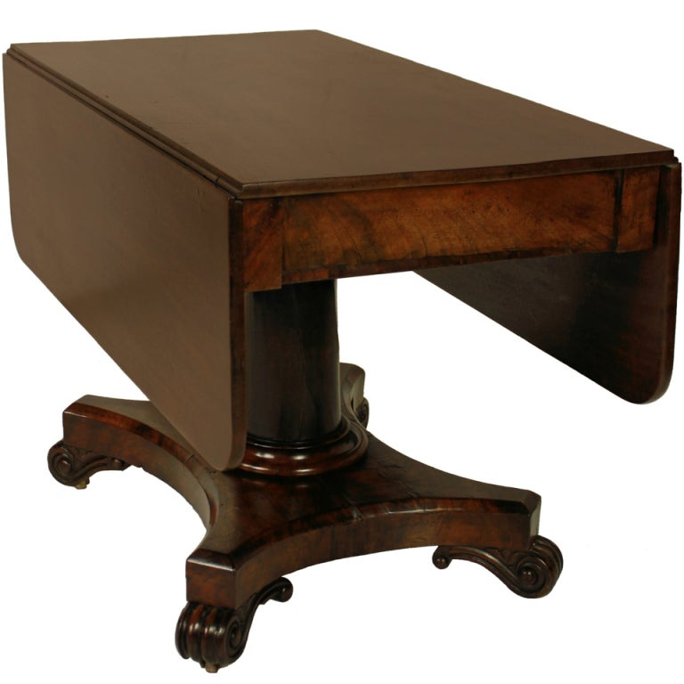 Awesome An English William IV Drop Leaf Pedestal Table 1