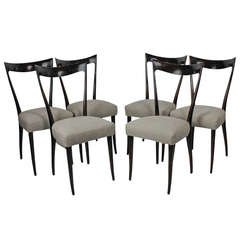 Six Elegant Italian Dining Chairs