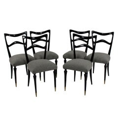 A Set Of Six Elegant Dining Chairs Atributed To Ulrich