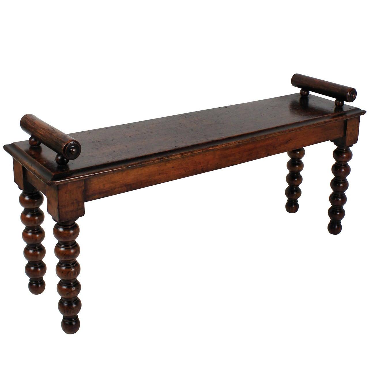 Oak Foyer Bench : English oak hall bench at stdibs