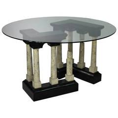 Unusual Mid-Century Italian 'Roman Ruins' Dining Table