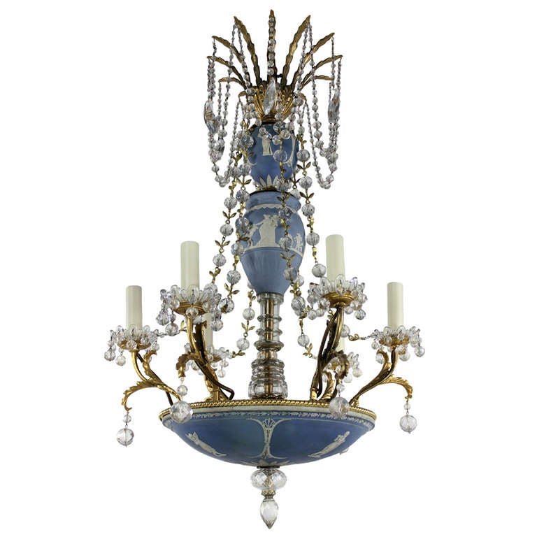 A Signed Wedgwood Chandelier C 1880 At 1stdibs