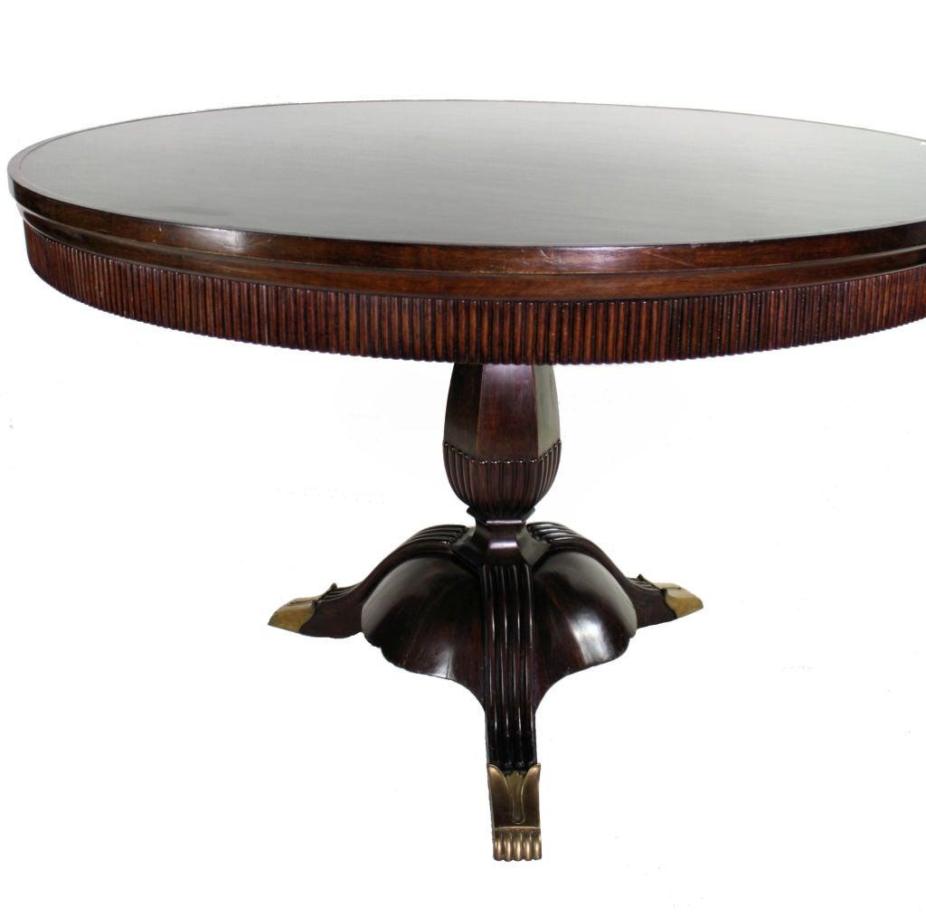 A Fine 40 39 S Italian Walnut Dining Table At 1stdibs