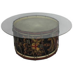 2nd Battalion City Of London Rifles Drum Occasional Table