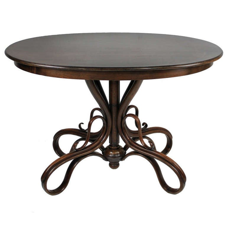 A Rare Austrian Bentwood Table 1