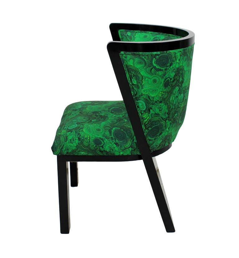 A Pair Of 30's French Chairs In Malachite 4