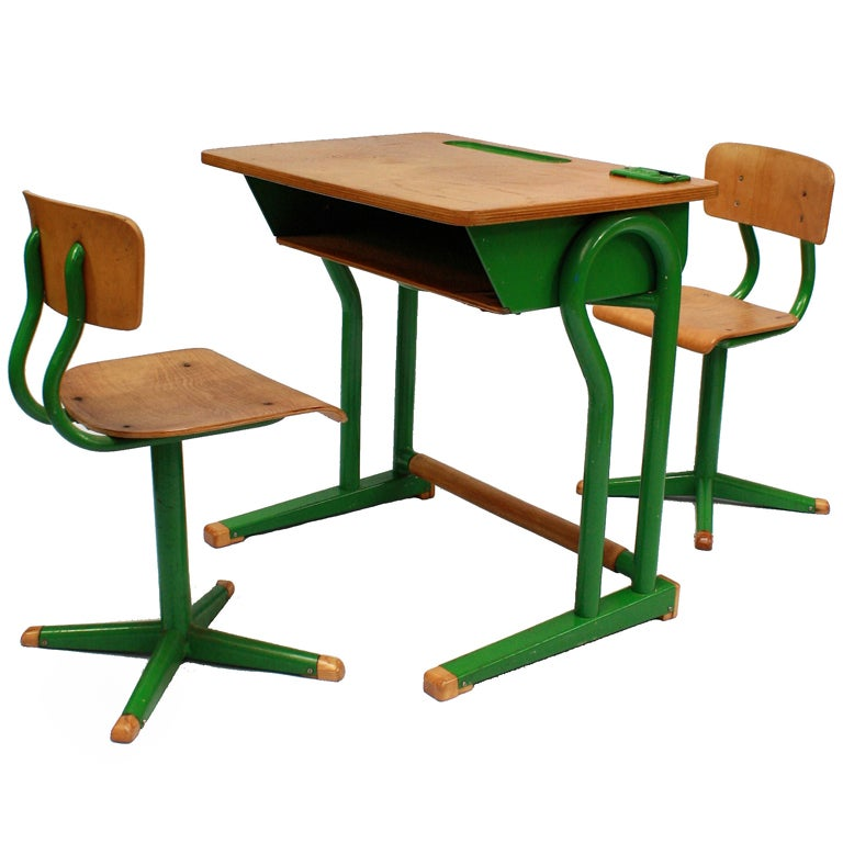 A French Child S Desk And Matching Chairs At 1stdibs
