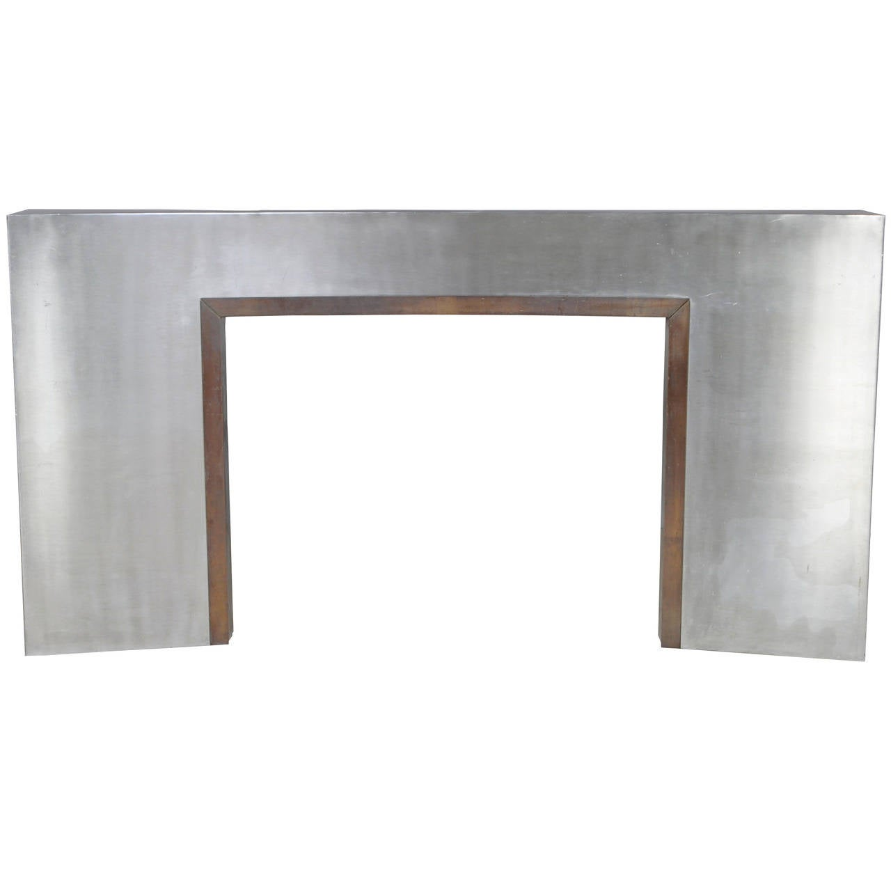 Stainless Steel Fireplace 1970s At 1stdibs