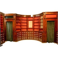Rare Herbalist's Shop Paneled Room From Colmar, Circa 1825