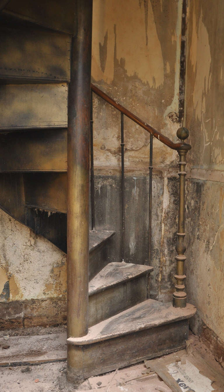 Antique spiral staircase 19th century at 1stdibs for Spiral stair details