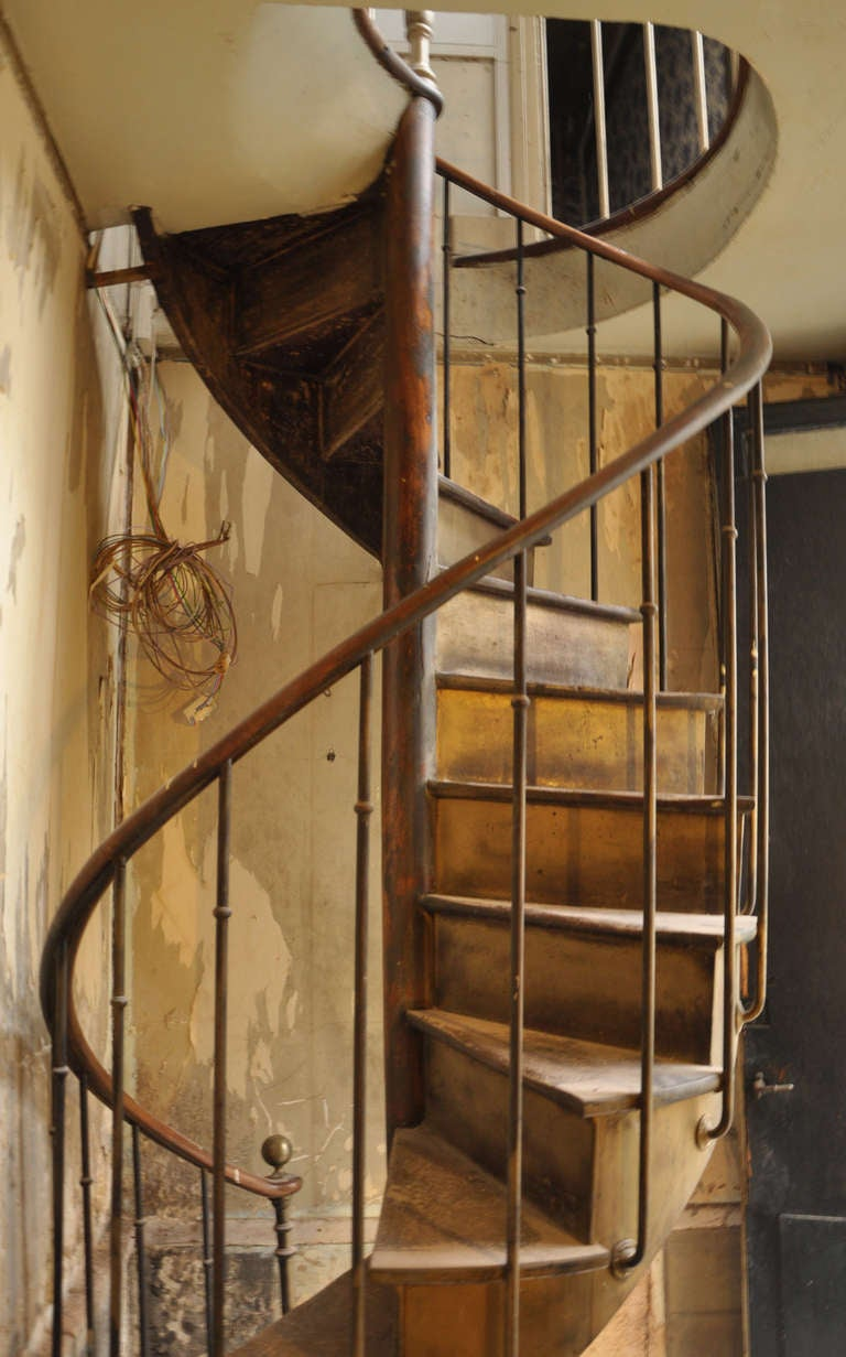 Antique spiral staircase 19th century at 1stdibs for Victorian spiral staircase